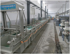 Semi-automatic plating line