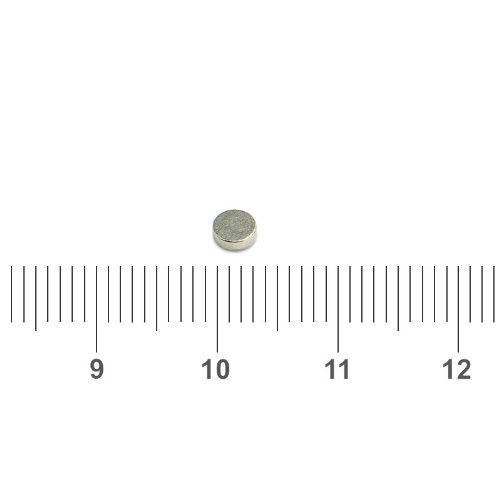 3mm x 1mm Tiny Disc Magnet Neo N35 Nickel