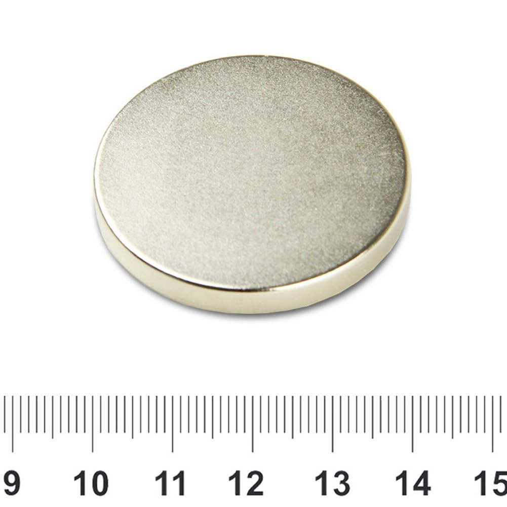 40mm x 5mm Super Strong Disk Magnet NdFeB N42 Ni