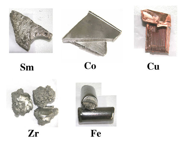 samarium cobalt magnet elements