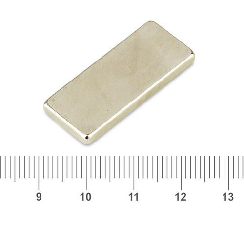 28 x 12 x 3mm Powerful Rectangle Magnet N42 Nickel