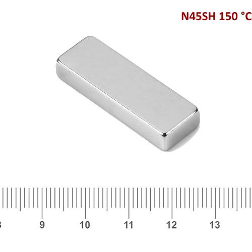 30 x 10 x 5mm Strong Bar NdFeB Magnet N42SH Ni