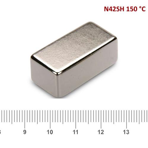 30 x 15 x 12mm NdFeB Axial Block Magnet N42SH Ni