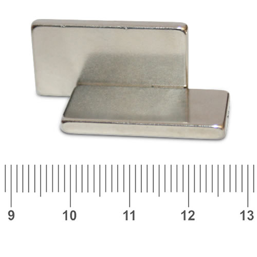 30 x 15 x 3mm Bar Neodymium Magnet N42 Ni