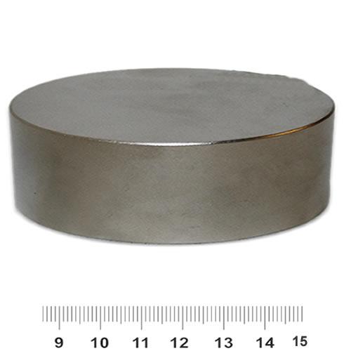 90mm x 30mm Huge Disc Neodymium Magnet N52 Nickel