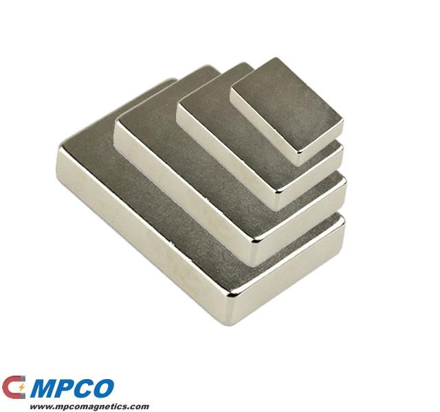 50 X 30 X 10mm Permanent Rectangular Magnet N40 Ni