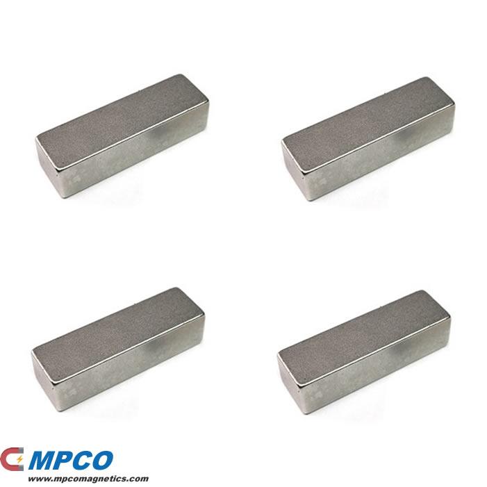 40 X 12 X 10mm Ndfeb Bulk Block Magnet N35 Ni Magnets