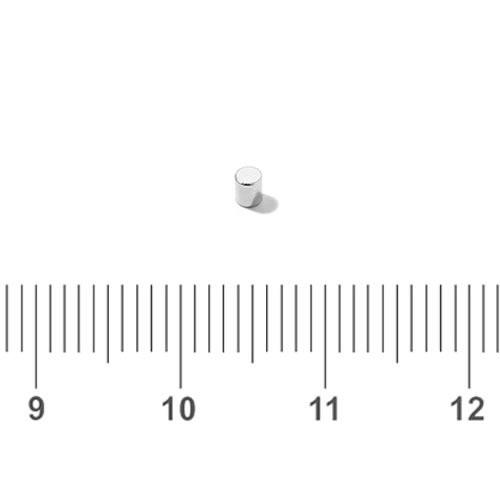 1.5 x 2mm Mini Rod Magnet Neodymium N48 Ni