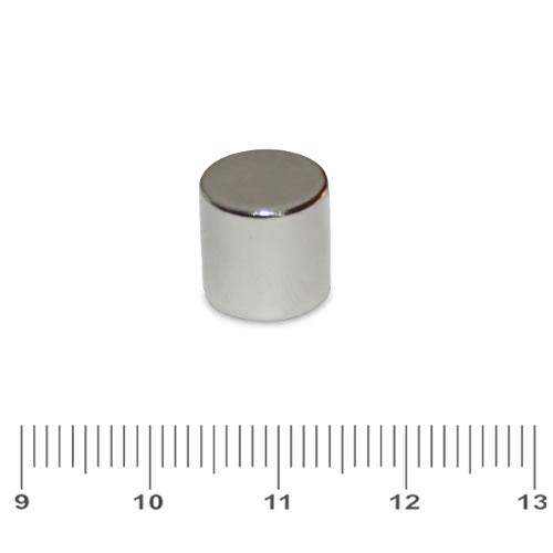 10 x 10mm Permanent Magnet Neodymium Cylinder N48 Ni