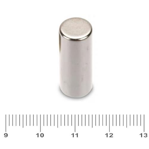 10 x 25mm NdFeB Rod Rare Earth Magnet N48 Ni