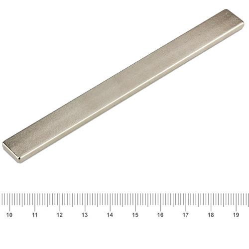 100 x 10 x 3mm Bulk Super Strong Strip Block Magnet N40 Ni