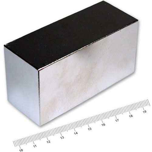 100 x 50 x 40mm Block Strongest NdFeB Magnet N42 Ni