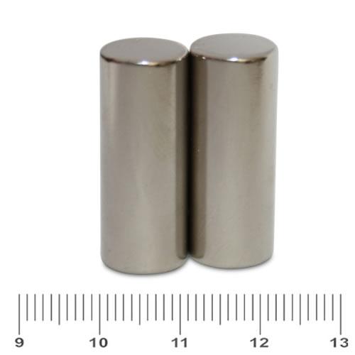 12 x 30mm Rare Earth Permanent Magnet Rod N45 Ni