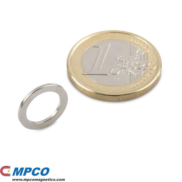 13 X 9 X 1mm Ndfeb Ring Rare Earth Magnet N40 Ni Magnets
