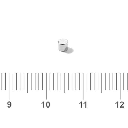 2 x 2mm Small Neodymium Minute Magnet Rod N50 Ni