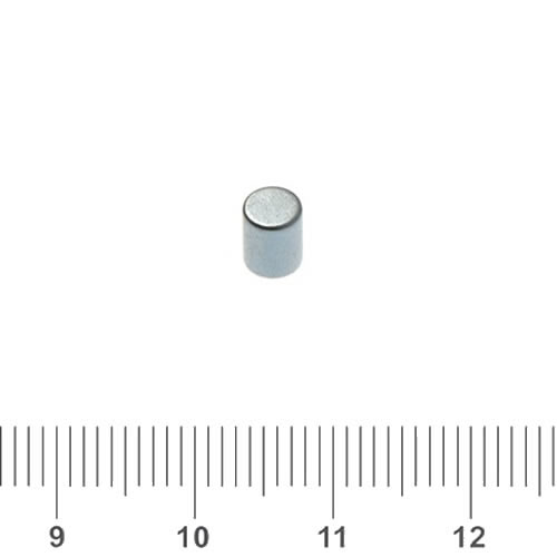 4 x 5mm Small NdFeB Cylindrical Magnet N45 Zinc