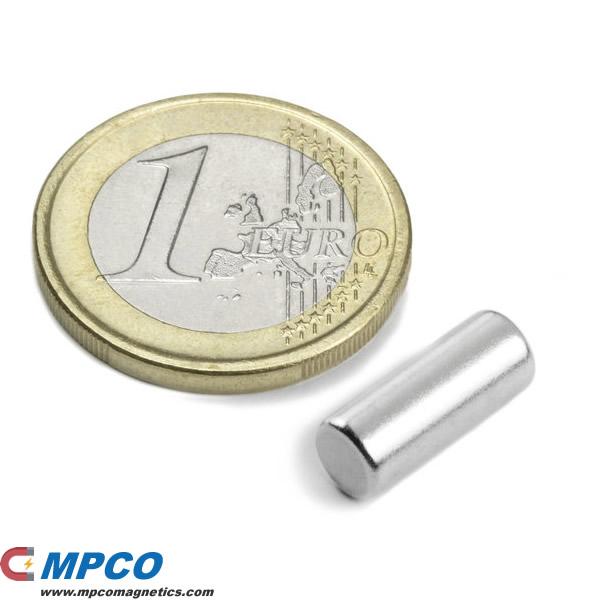 5 X Rare Earth Cylinder Magnet Neo N45 Ni