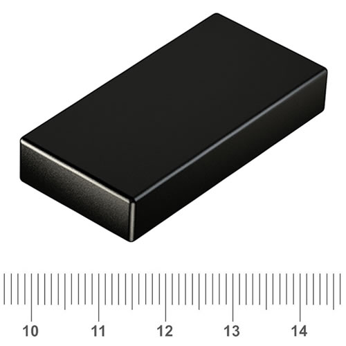 50 x 25 x 10mm Rectangular Neodymium Powermagnet N45 Epoxy