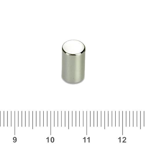 6 x 10mm NdFeB Cylinder Magnet N48 Ni