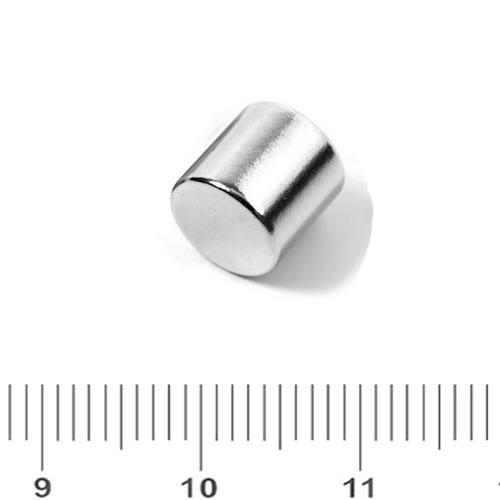 8 x 8mm Cylindrical NdFeB Magnet N48 Ni
