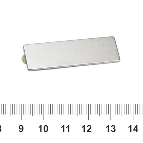 Flat 3M Adhesive NdFeB Magnet N35 40 x 12 x 1mm
