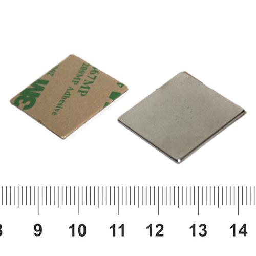 Self adhesive Flat NdFeB Square Magnet N35 25 x 25 x 1mm