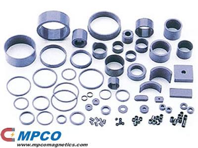 Compression molded magnets