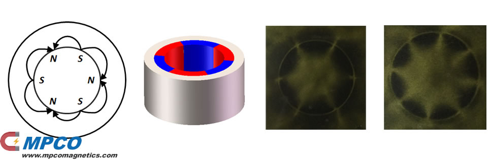 Multi-polar magnetized in inner diameter