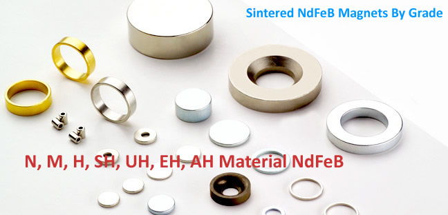 Sintered NdFeB Magnets By Grade