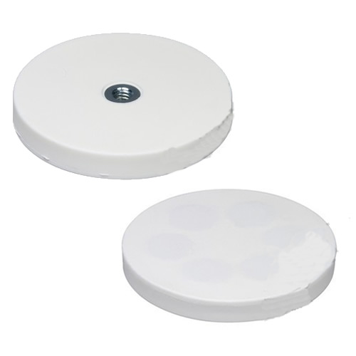 Internal Thread White Rubber Coated Magnet Assembly