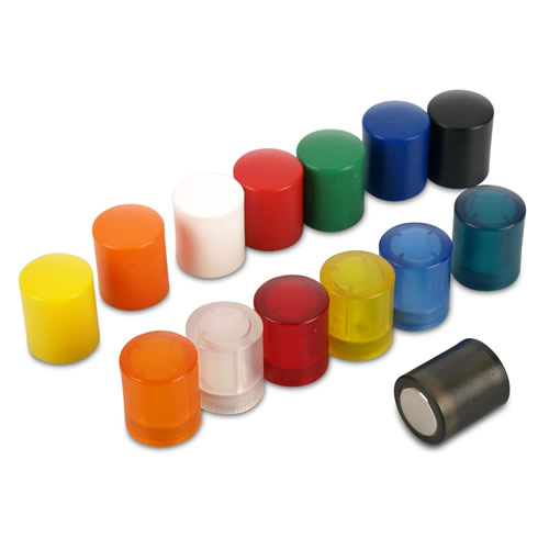 ABS Plastic Coated Push Pin Magnets