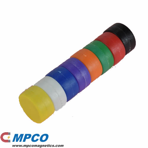 Assorted Colors Powerful Plastic Coated Neodymium Magnets