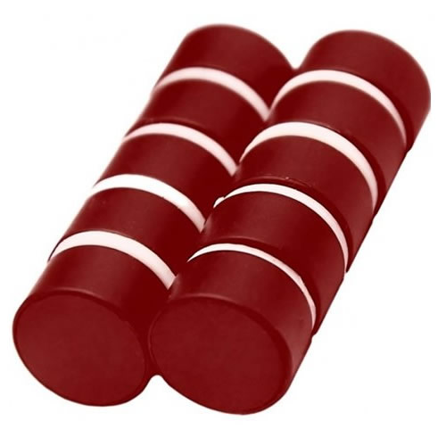 Polypropylene Coating Magnets Red