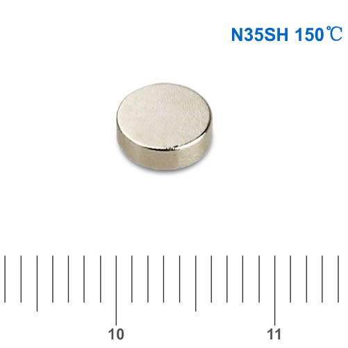Neodymium Sensor Magnet System N35SH D6 x2.5mm