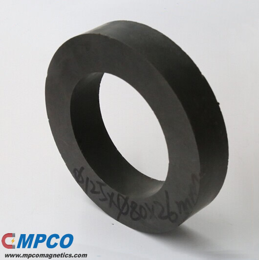 Customized Large Size Ferrite Ring Magnet Made to Order