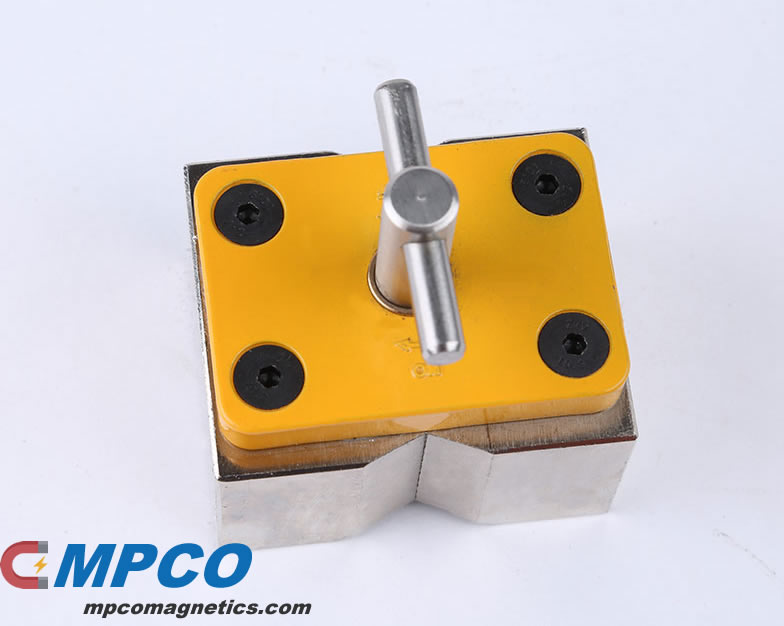 On Off Neodymium Magnetic Clamp with V Groove Design