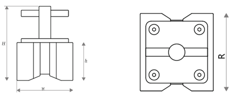 Square Welding Magnet Drawing