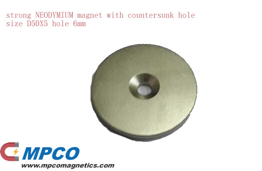 Countersunk NdFeB Magnet Production and Processing