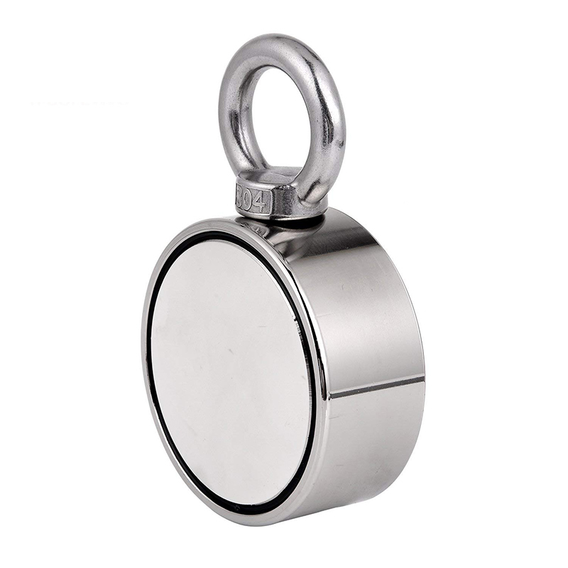 530LBS Single Side Eyebolt Neodymium Industrial Retrieve Magnet