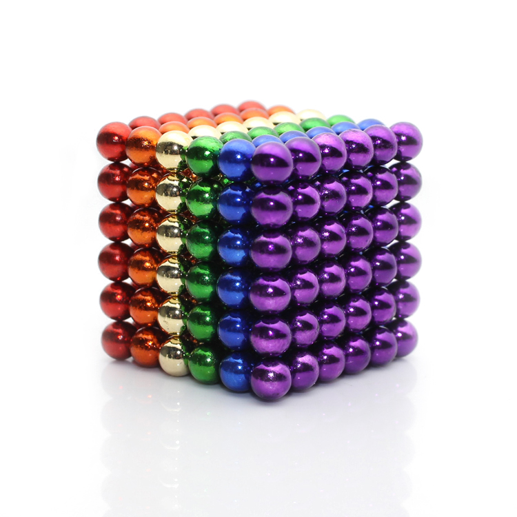 216x5mm Six Colors Colored Magnetic Balls Puzzle