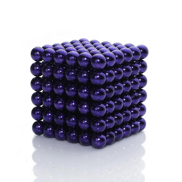 Violet Color 5mm 216pcs BuckyBalls Magnetic Desktoy