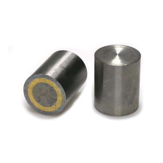 Flat AlNiCo Cylindrical Pot Magnets Steel Body with Fitting Tolerance H6