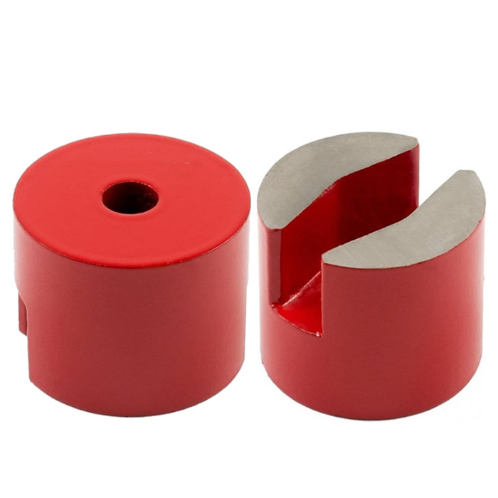 Red Painted Round Alnico Holding Button Magnet