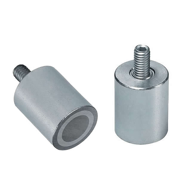 AlNiCo Cylindrical Permanent Pot Magnet with Threaded Neck