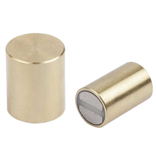Deep Pot SmCo Magnets Brass Body with Fitting Tolerance h6