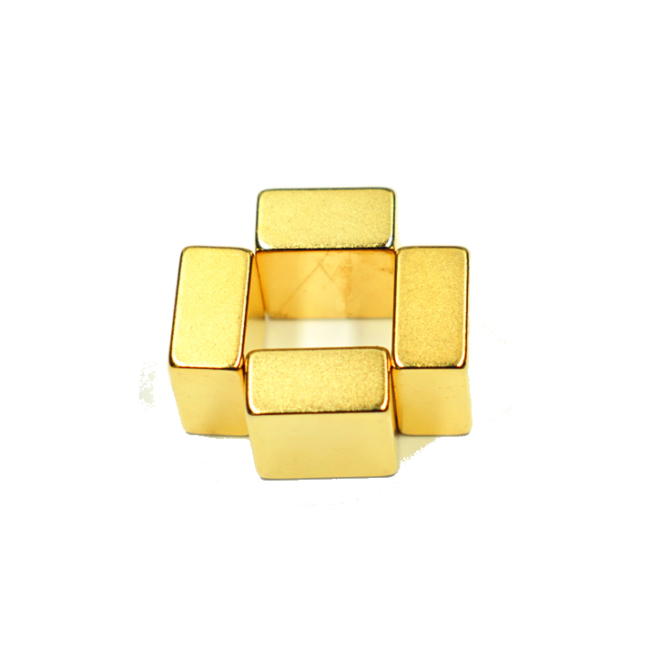 Gold Plated Customized NdFeB Permanent Strong Magnets
