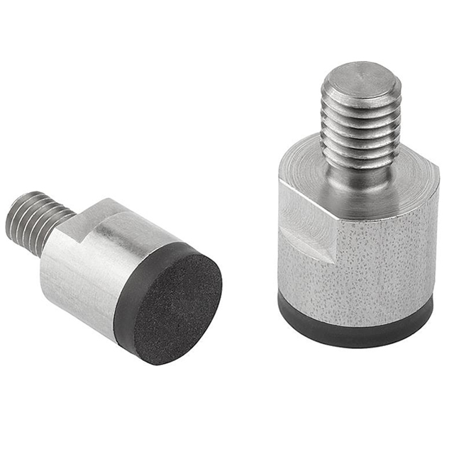 Rubberised Bottom Deep Pot Magnets with Threaded Pin NdFeB