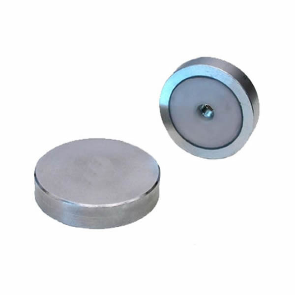 SmCo Round Base Magnet with Internal Threaded Hole