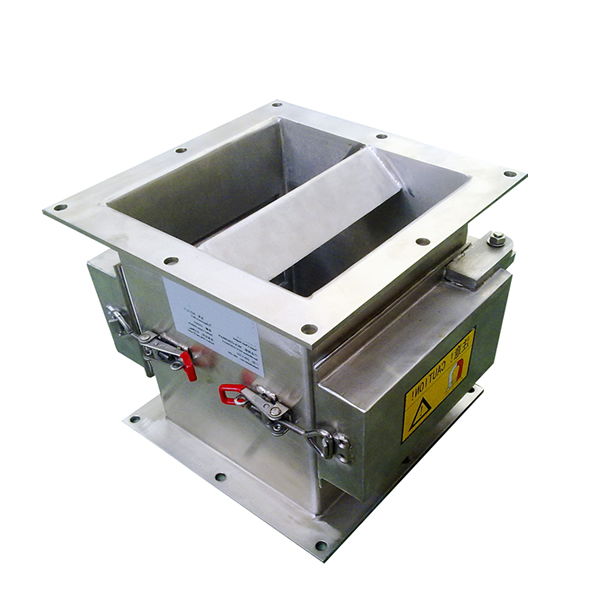 Chute Magnet with Square Inlet and Outlet
