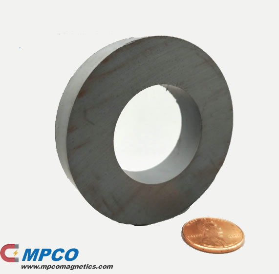OD60xID32x10mm Anisotropic Ferrite Ceramic Audio Speaker Magnet